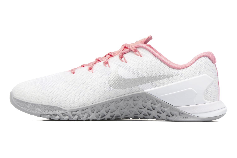 Wmns Nike Metcon 3 White/Metallic Silver-Bright Melon