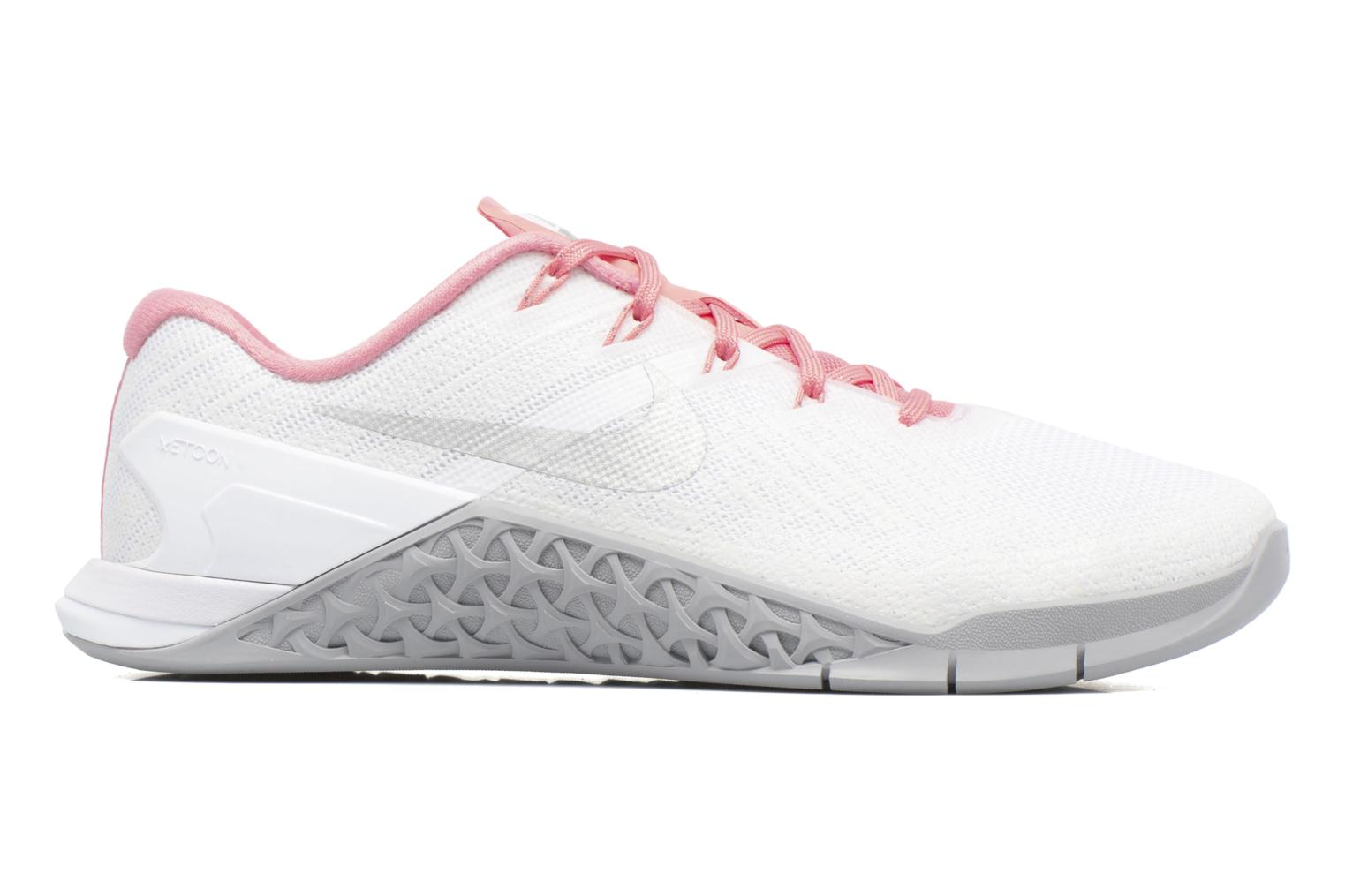 Wmns Nike Metcon 3 White/Metallic Silver-Bright Melon