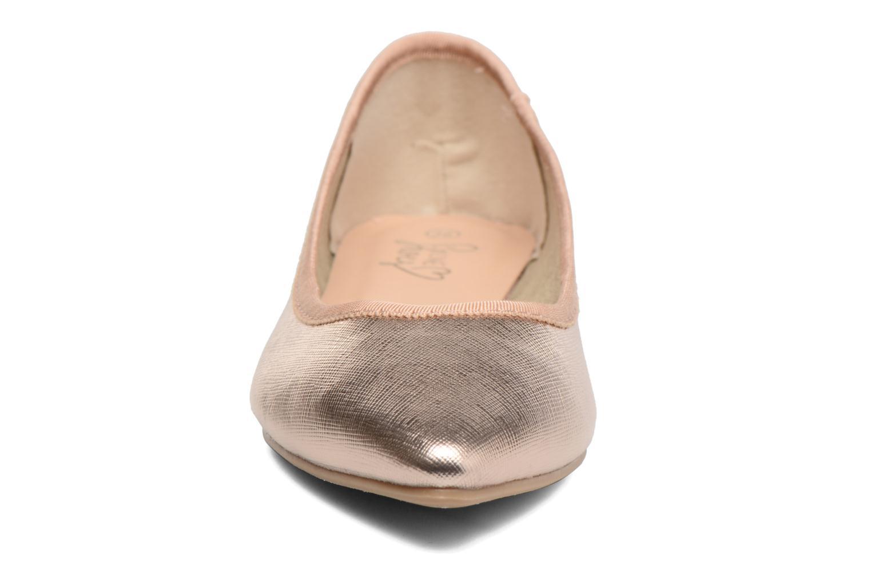 Ballerines I Love Shoes MC ANAS Or et bronze vue portées chaussures