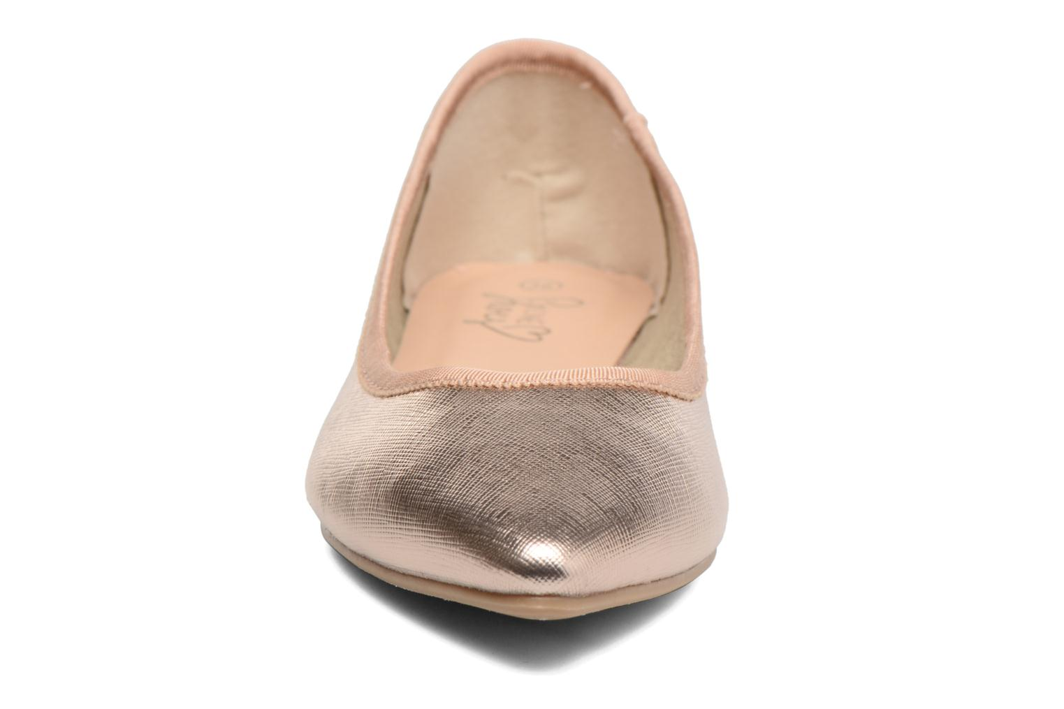 Ballet pumps I Love Shoes MC ANAS Bronze and Gold model view