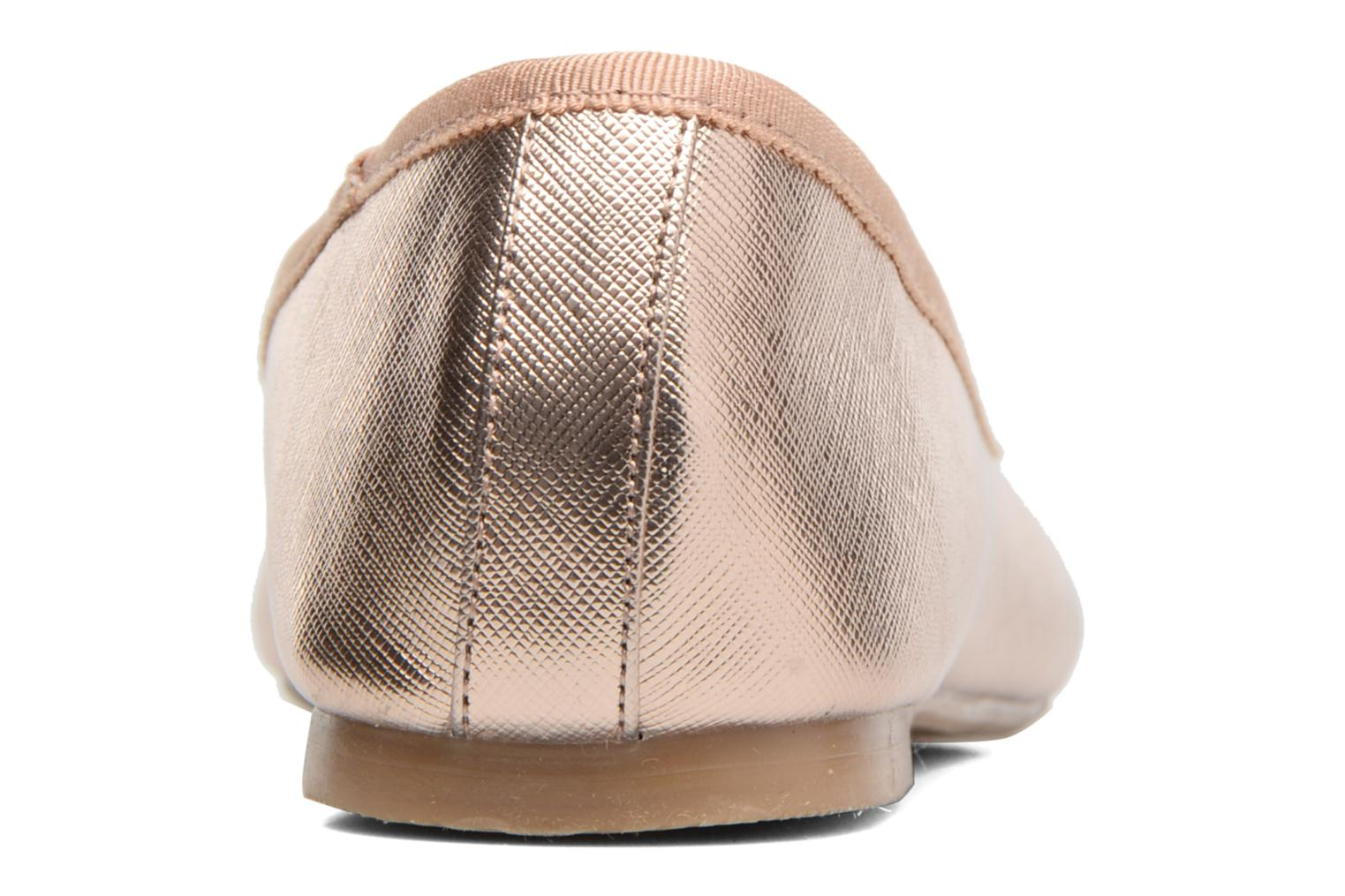 Ballet pumps I Love Shoes MC ANAS Bronze and Gold view from the right