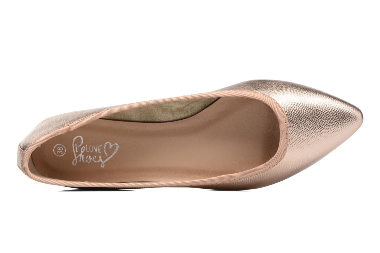 Ballerines I Love Shoes MC ANAS Or et bronze vue gauche