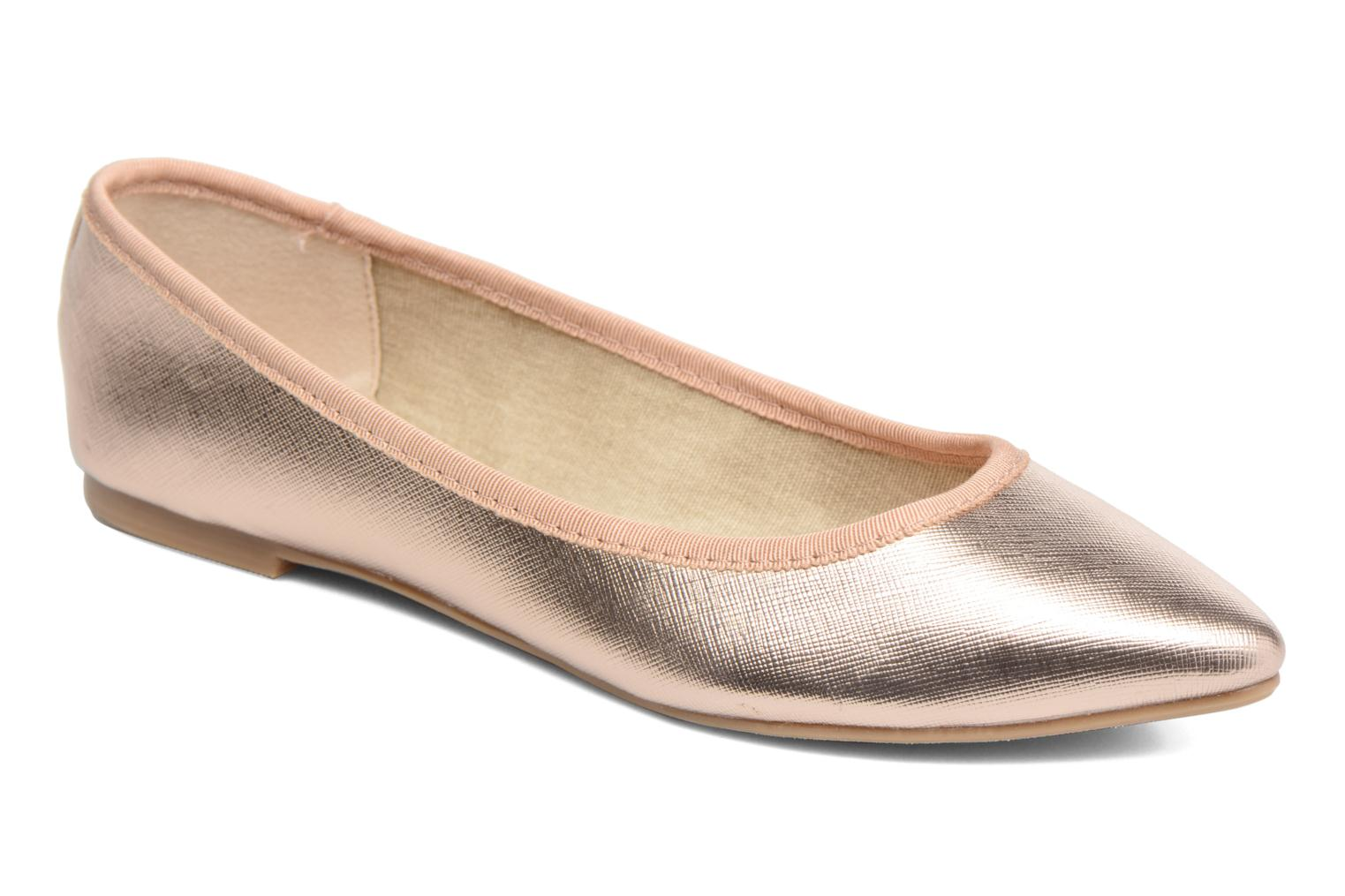 Ballet pumps I Love Shoes MC ANAS Bronze and Gold detailed view/ Pair view