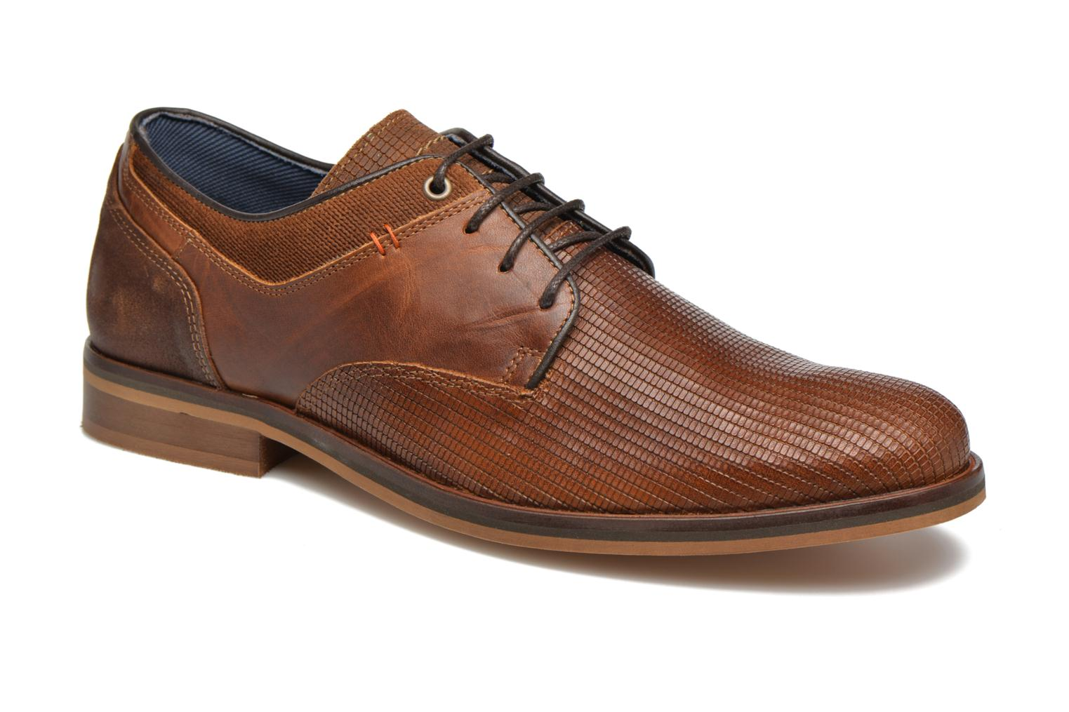 Lace-up shoes Bullboxer Mallow Brown detailed view/ Pair view