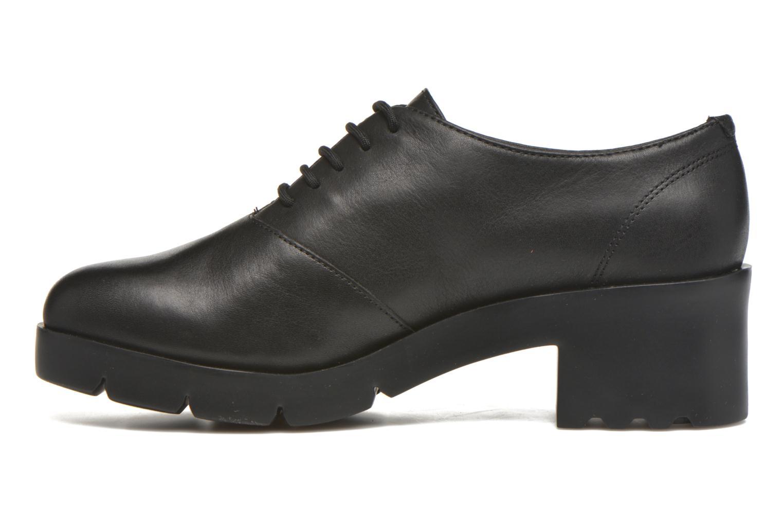 Chaussures à lacets Camper Wanda Noir vue face