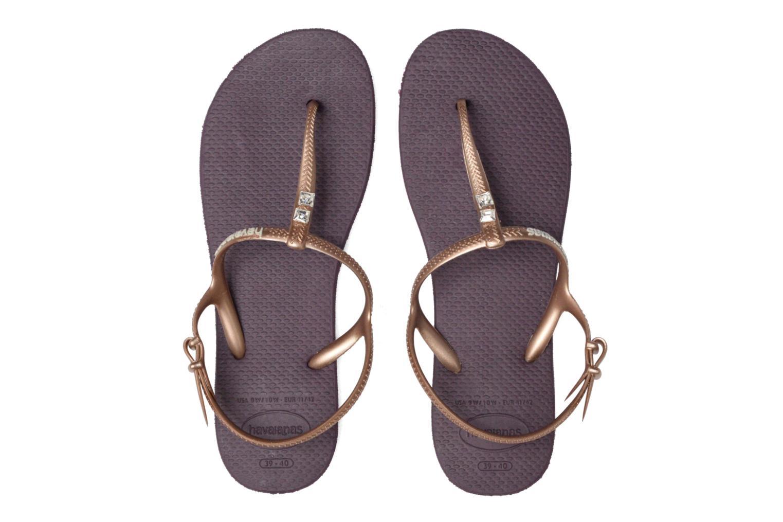 Sandals Havaianas Freedom Crystal Purple 3/4 view