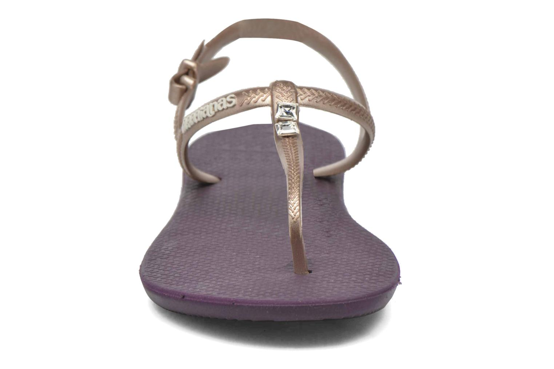 Sandales et nu-pieds Havaianas Freedom Crystal Violet vue portées chaussures