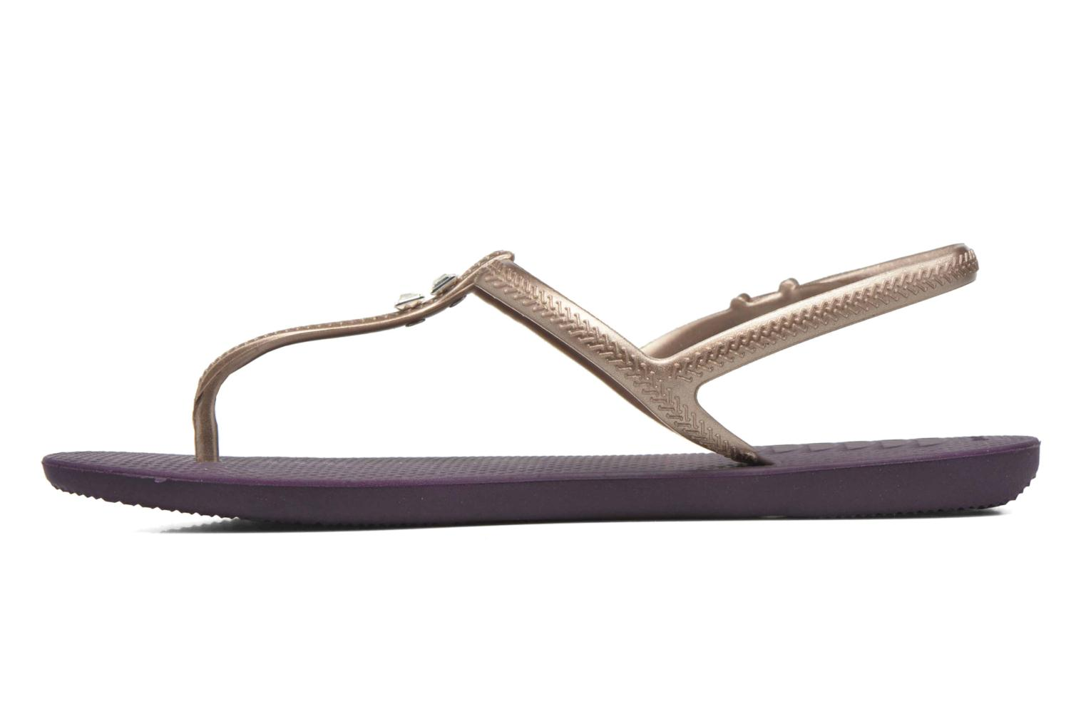 Sandals Havaianas Freedom Crystal Purple front view