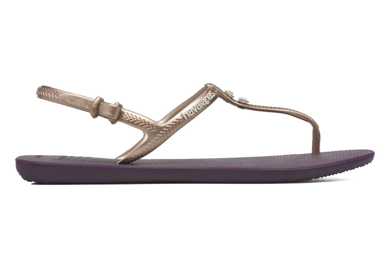 Sandalen Havaianas Freedom Crystal lila ansicht von hinten