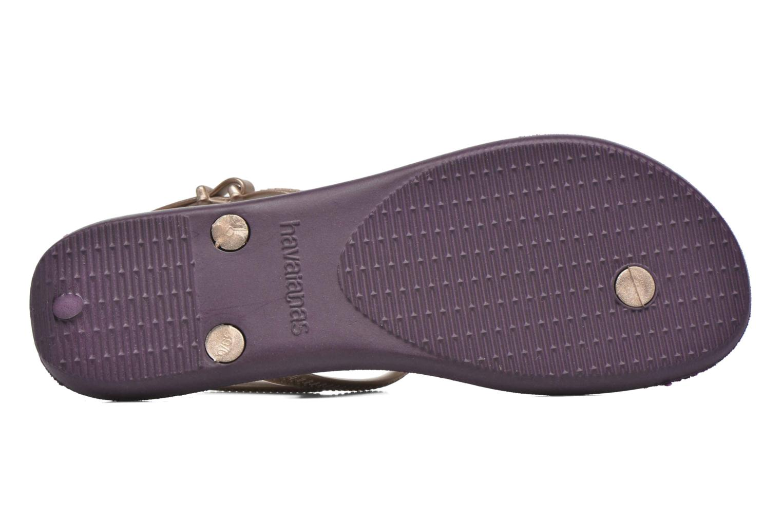 Sandals Havaianas Freedom Crystal Purple view from above