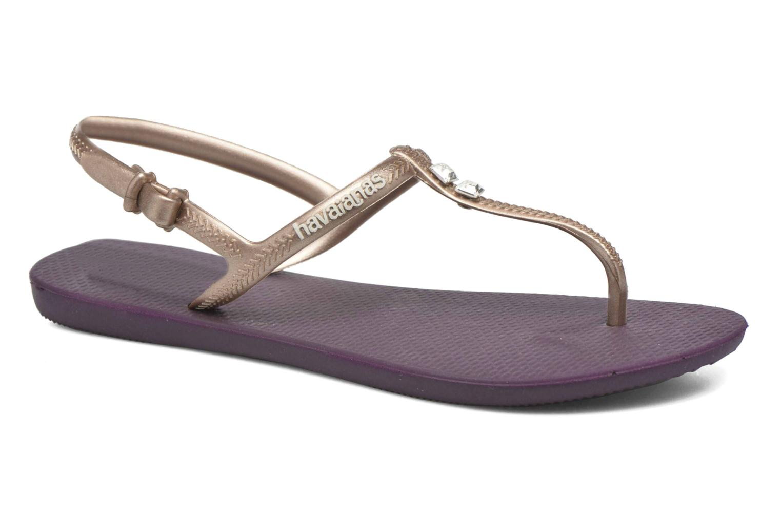 Sandals Havaianas Freedom Crystal Purple detailed view/ Pair view