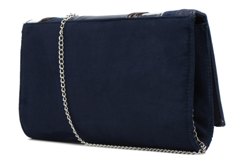 Sacs pochettes Dorothy Perkins Panelled Striped Clutch Bleu vue droite