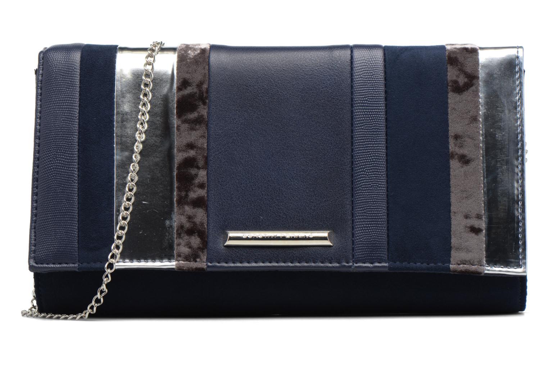 Sacs pochettes Dorothy Perkins Panelled Striped Clutch Bleu vue détail/paire