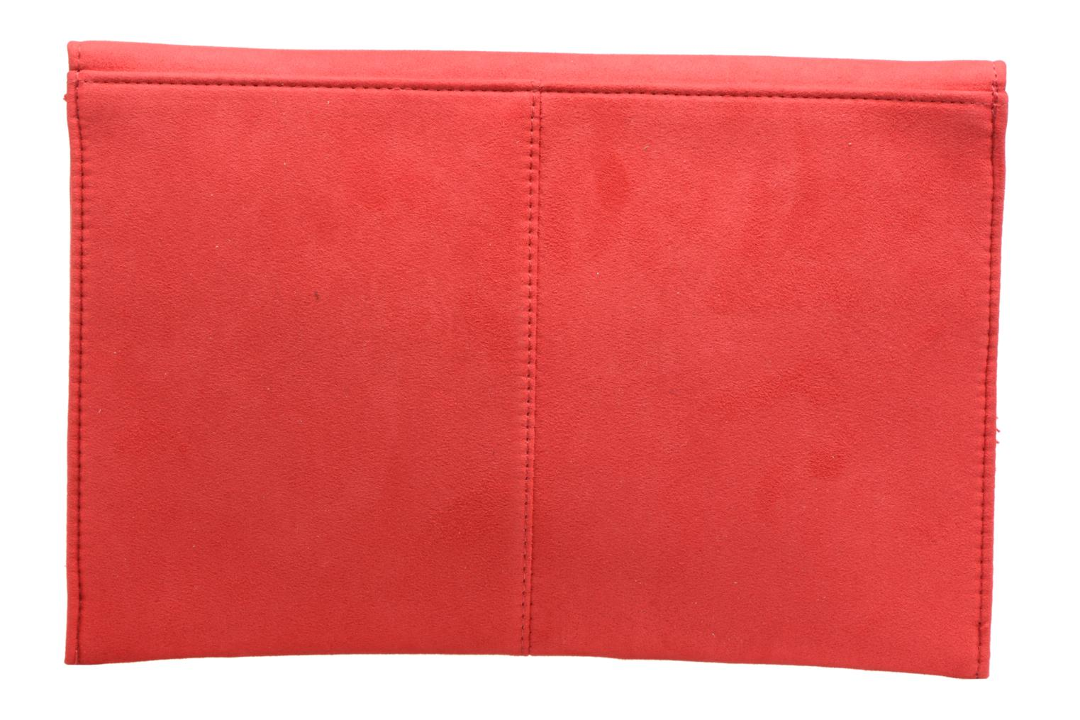 Sacs pochettes Dorothy Perkins Suede Tab Clutch Rouge vue face