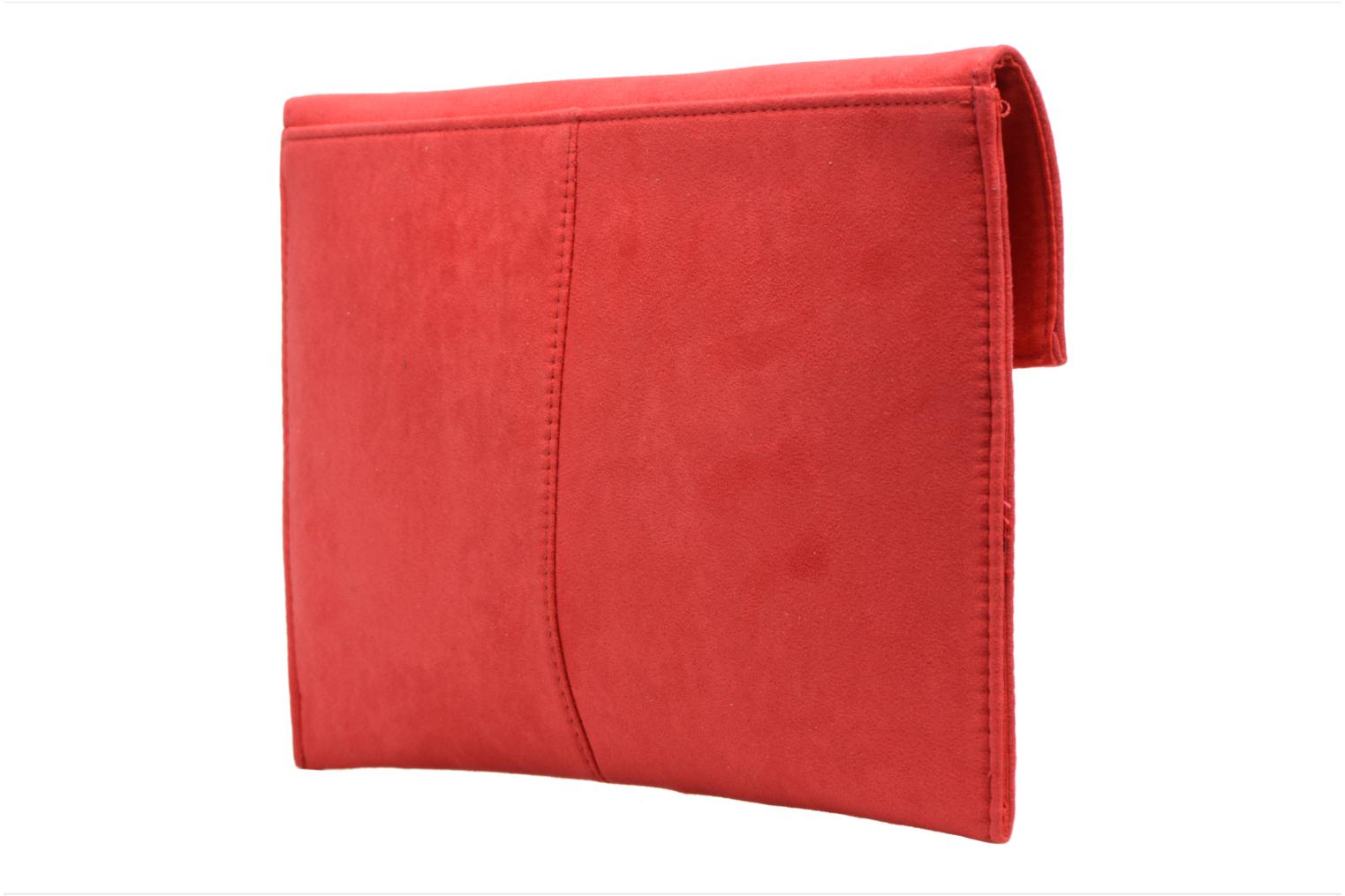 Sacs pochettes Dorothy Perkins Suede Tab Clutch Rouge vue droite