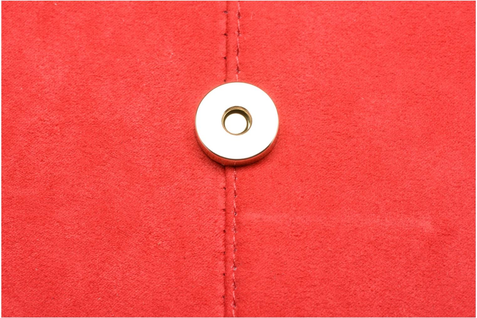 Sacs pochettes Dorothy Perkins Suede Tab Clutch Rouge vue gauche