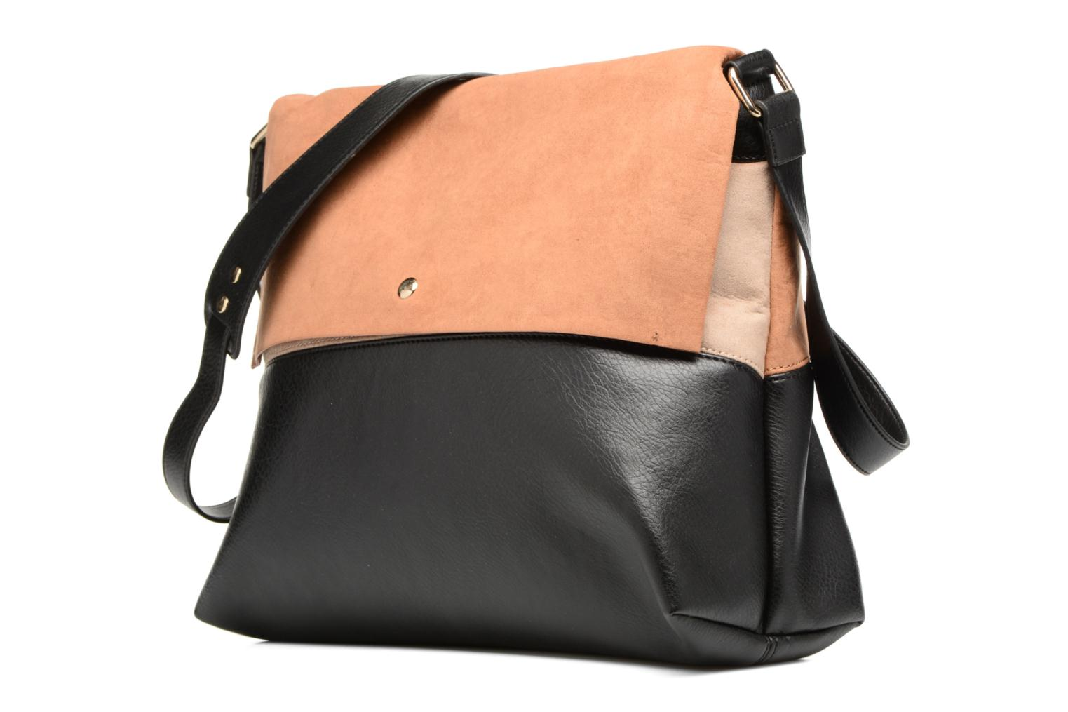 Colour Block Bag Black tan
