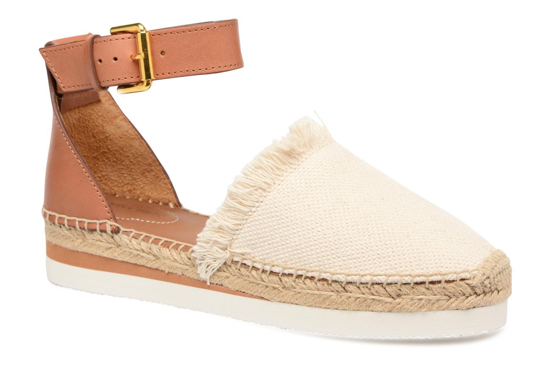 Zapatos de hombres y mujeres de moda casual See by Chloé Glyn Flat (Blanco) - Alpargatas en Más cómodo