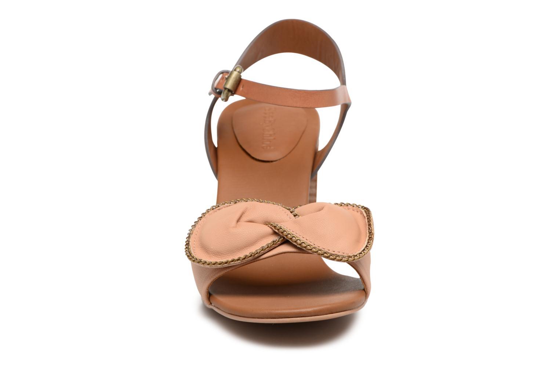 Sandales et nu-pieds See by Chloé Clara High Beige vue portées chaussures