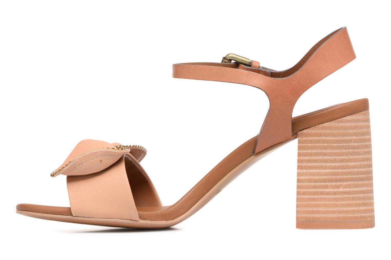 Sandales et nu-pieds See by Chloé Clara High Beige vue face