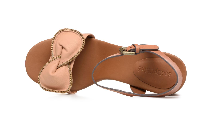 Sandales et nu-pieds See by Chloé Clara High Beige vue gauche