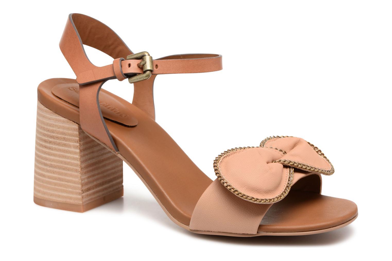 Sandales et nu-pieds See by Chloé Clara High Beige vue détail/paire