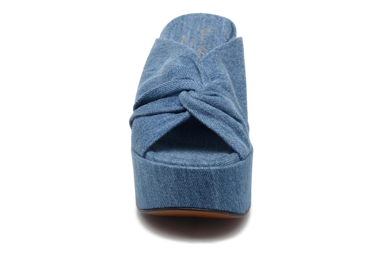 Mules et sabots Clergerie Esthert Bleu vue portées chaussures