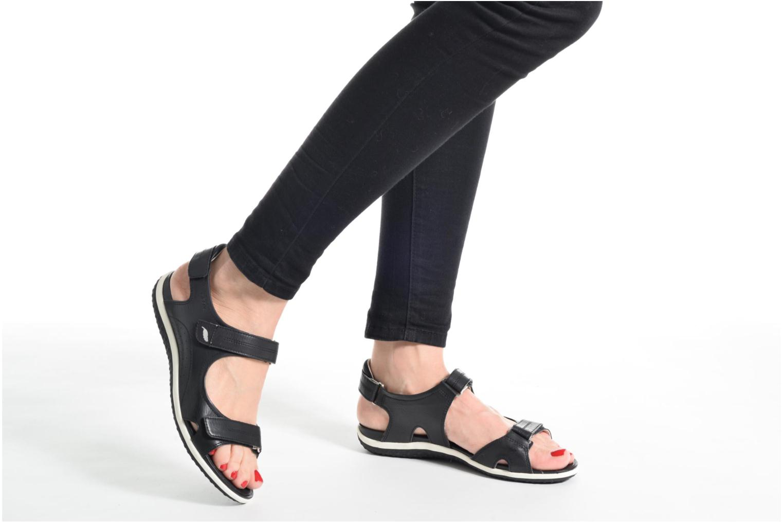 Sandali e scarpe aperte Geox D SAND.VEGA A D52R6A Grigio immagine dal basso