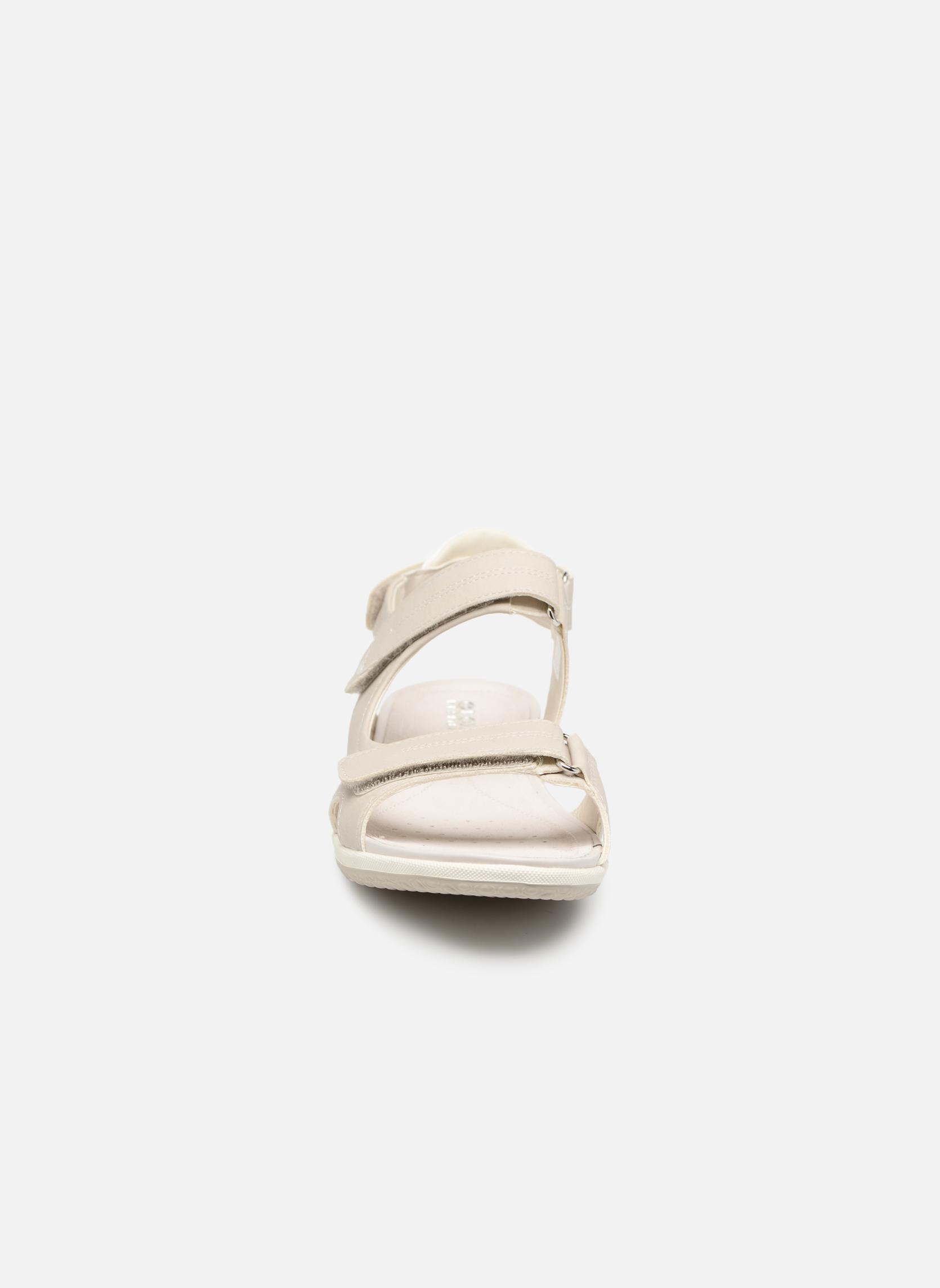 Sandali e scarpe aperte Geox D SAND.VEGA A D52R6A Grigio modello indossato