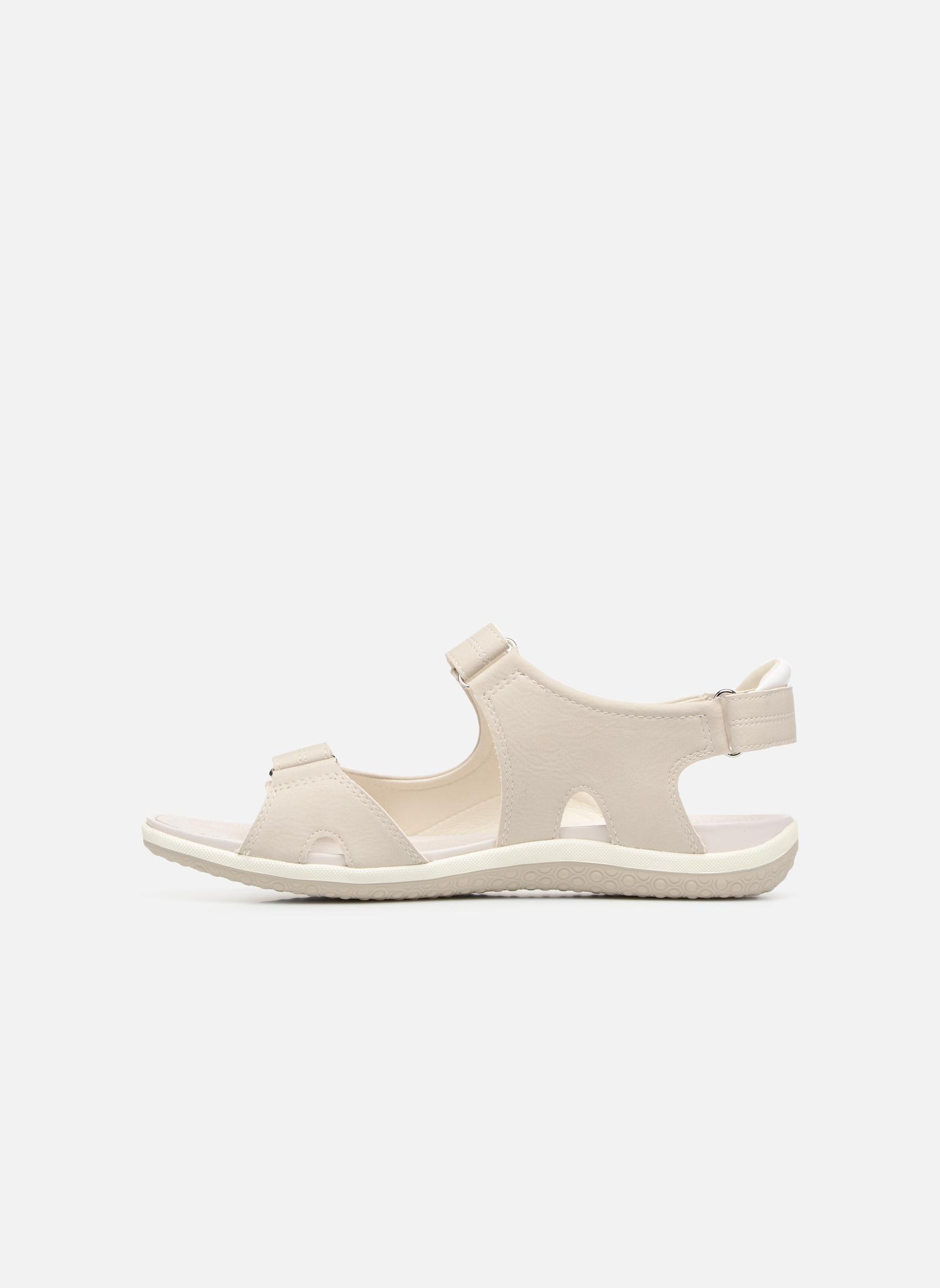 Sandals Geox D SAND.VEGA A D52R6A Grey front view