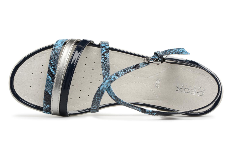 Sandali e scarpe aperte Geox D SAND.VEGA C D62R6C Azzurro immagine sinistra