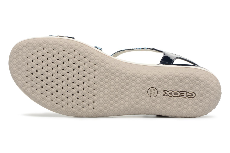 Sandali e scarpe aperte Geox D SAND.VEGA C D62R6C Azzurro immagine dall'alto