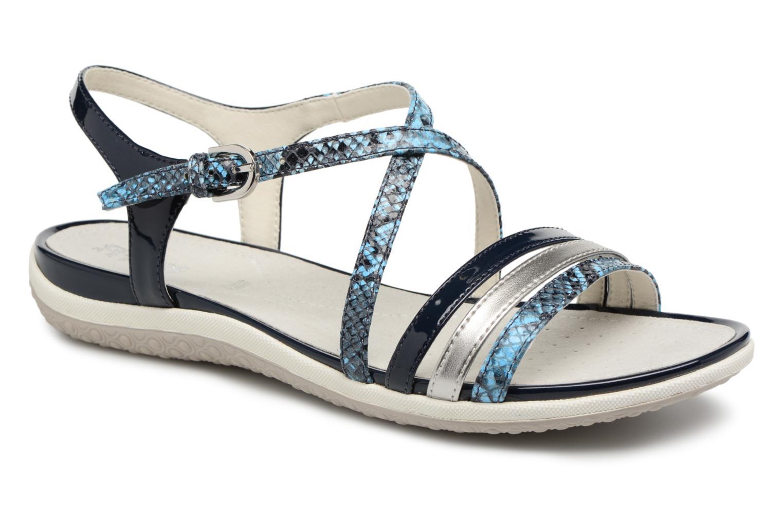 Sandales et nu-pieds Geox D SAND.VEGA C D62R6C Bleu vue détail/paire