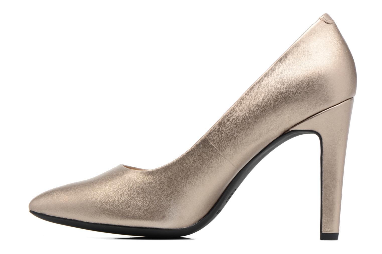 Høje hæle Geox D CAROLINE C D62W1C Guld og bronze se forfra