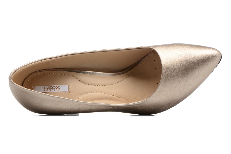 Zapatos de tacón Geox D CAROLINE C D62W1C Oro y bronce vista lateral izquierda