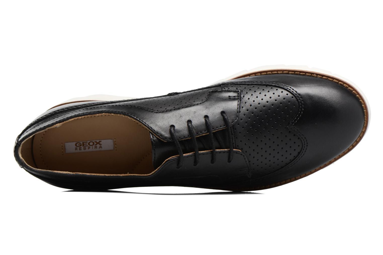Chaussures à lacets Geox D BLENDA A D720BA Noir vue gauche