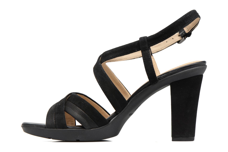 Sandales et nu-pieds Geox D JADALIS B D721VB Noir vue face