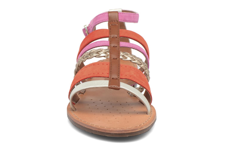 Sandali e scarpe aperte Geox D SOZY E D722CE Arancione modello indossato
