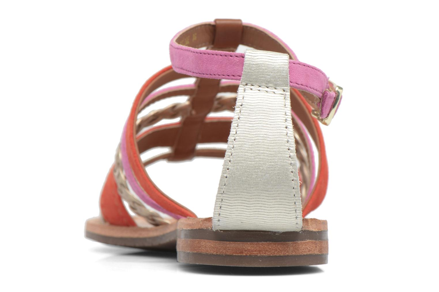 Sandals Geox D SOZY E D722CE Orange view from the right