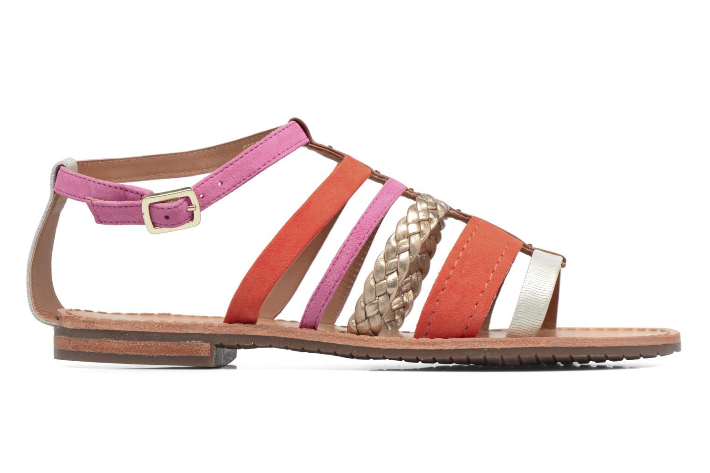 Sandals Geox D SOZY E D722CE Orange back view