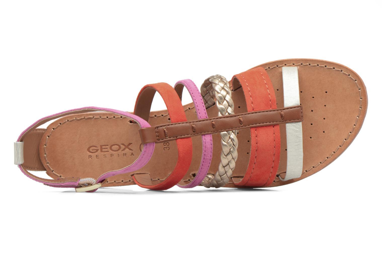 Sandals Geox D SOZY E D722CE Orange view from the left
