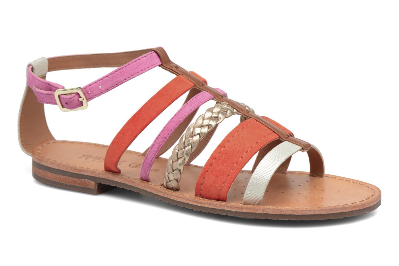 Sandals Geox D SOZY E D722CE Orange detailed view/ Pair view
