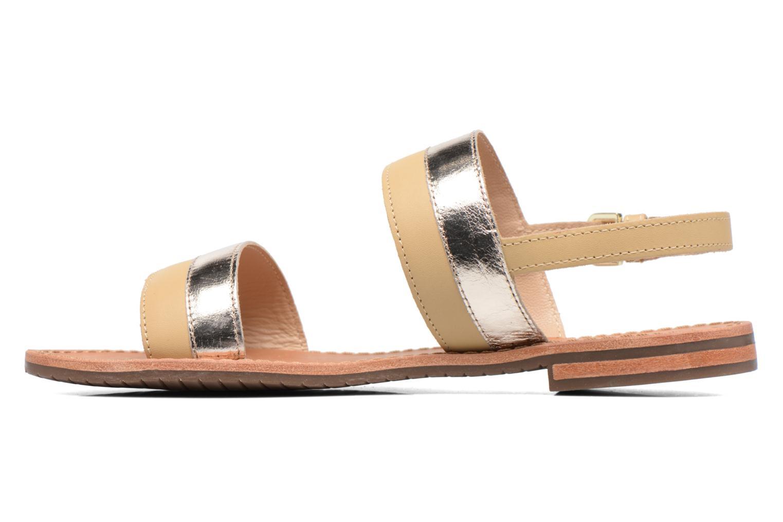 Sandals Geox D SOZY F D722CF Beige front view