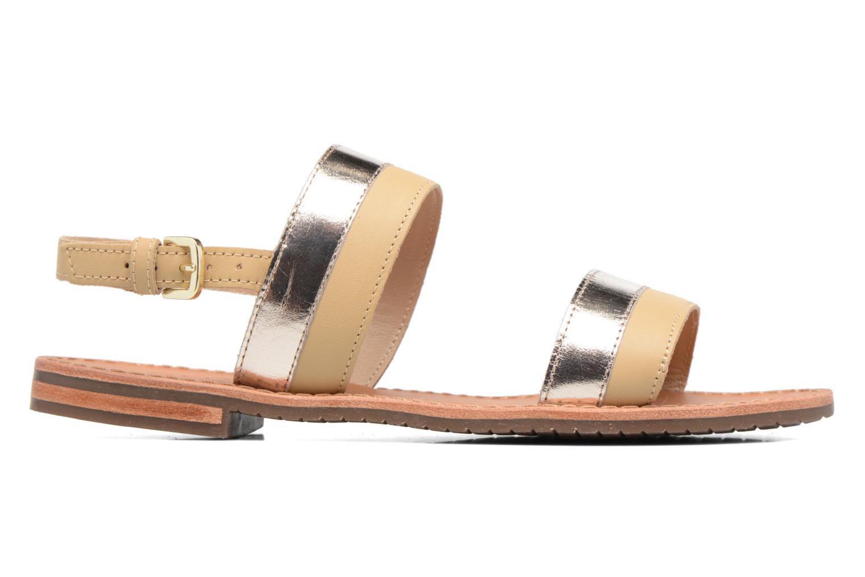 Sandales et nu-pieds Geox D SOZY F D722CF Beige vue derrière