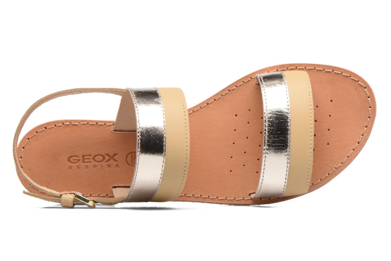 Sandalen Geox D SOZY F D722CF beige ansicht von links