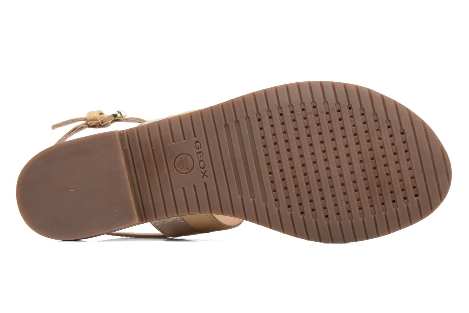 Sandals Geox D SOZY F D722CF Beige view from above