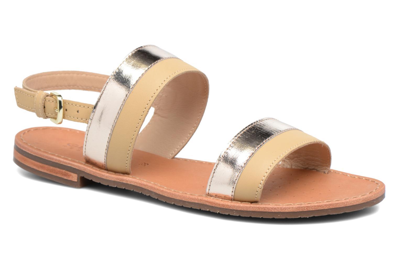 Sandales et nu-pieds Geox D SOZY F D722CF Beige vue détail/paire