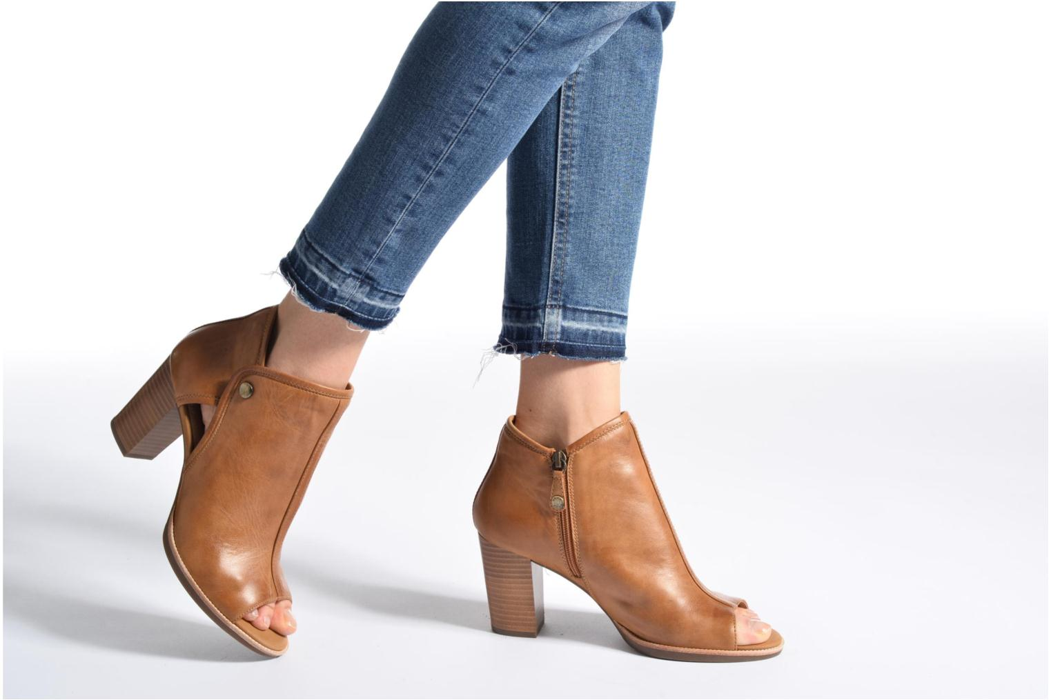 Ankle boots Geox D NEW CALLIE B D7240B Brown view from underneath / model view