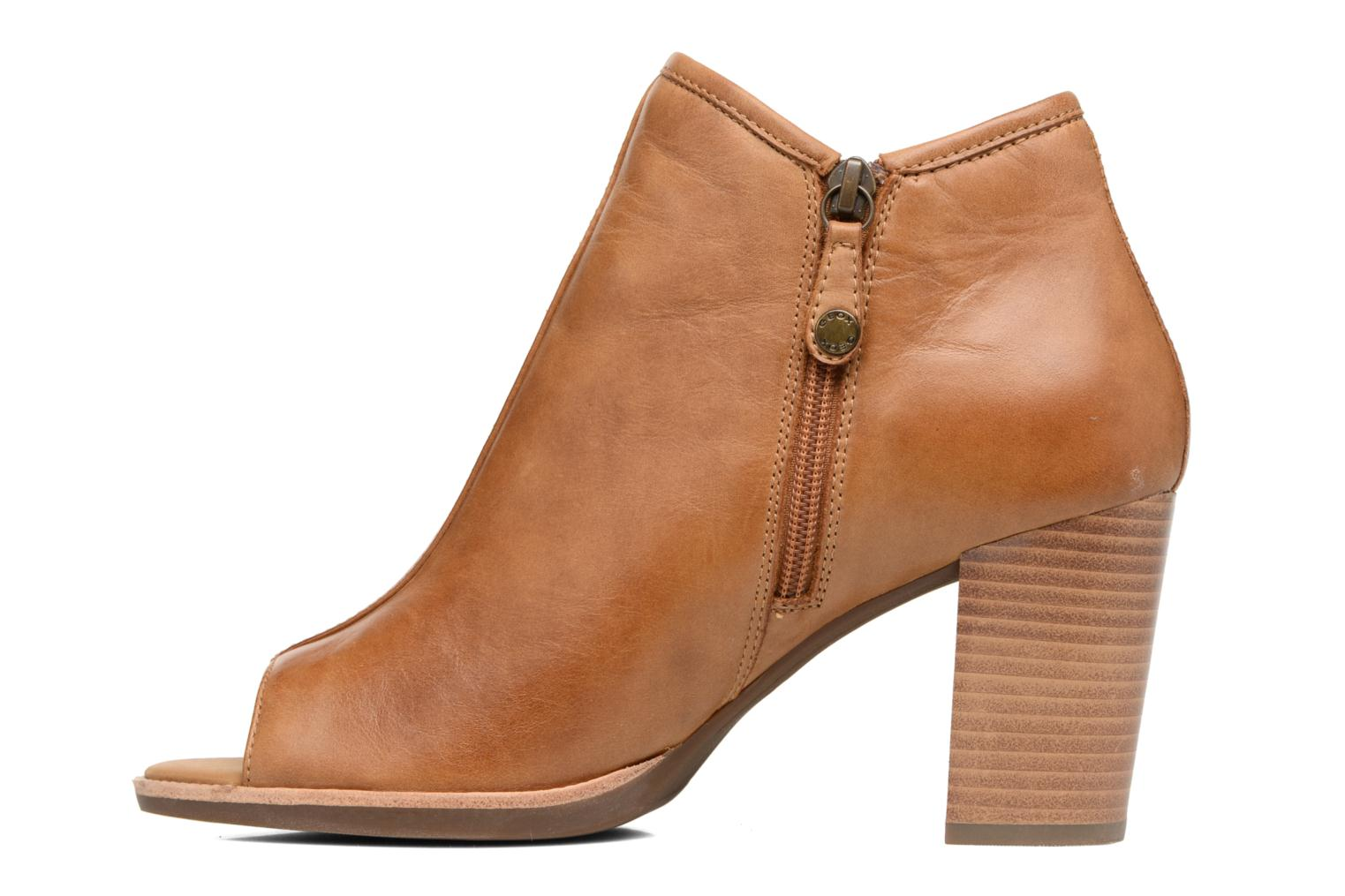 Ankle boots Geox D NEW CALLIE B D7240B Brown front view