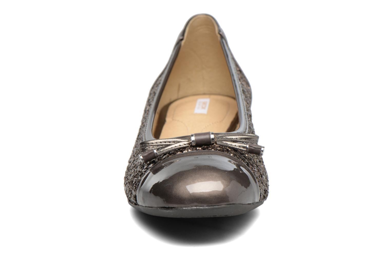 Ballerines Geox D WISTREY F D724GF Marron vue portées chaussures